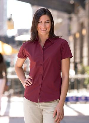 Coal Harbour� Ladies Short Sleeve Easy Care Shirt. L510