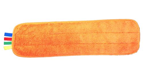 "Microfiber Orange Wet Mops 18"" - Deluxe Upgrade"