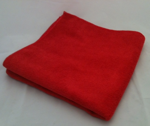 "Microfiber General Cleaning Cloth - 16x16"" - Red"